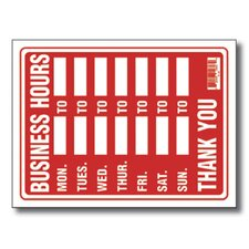 Business Hours Sign (Set of 24)