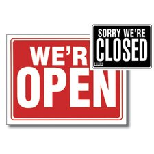 Open Sign with Closed Sign on Back (Set of 24)