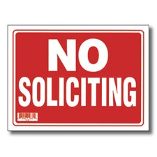 <strong>Bazic</strong> No Soliciting Sign (Set of 24)