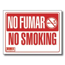No Fumar / No Smoking Sign (Set of 24)