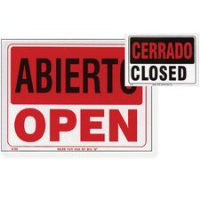 Abierto Sign with Cerrado Sign on Back (Set of 24)