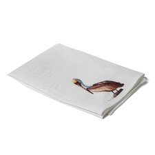 Coastal Sitting Pelican Hand Towel