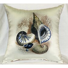 Three Shells Print Pillow