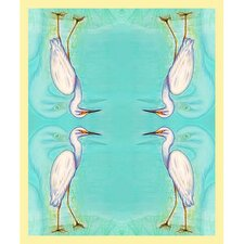 Snowy Egret Polyester Throw