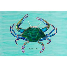 Coastal Blue Crab Outdoor Wall Hanging