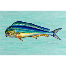 Coastal  Dolphin Fish Door Mat