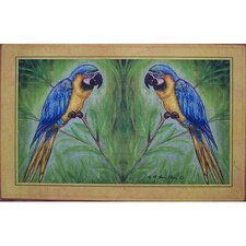 <strong>Betsy Drake Interiors</strong> Coastal Blue Macaw Door Mat