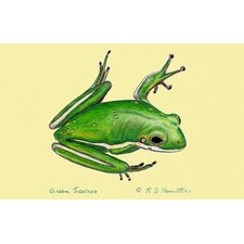 Coastal Green Tree Frog Door Mat