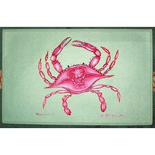 Coastal Pink Crab Door Mat