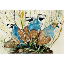 Garden Partridges Door Mat