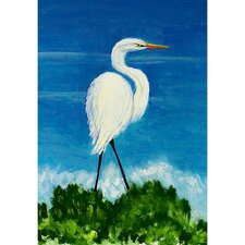 Egret Vertical Flag