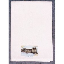 <strong>Betsy Drake Interiors</strong> Pets Cat on Rug Hand Towel
