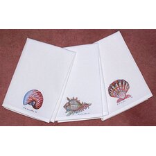 Coastal Conch Shell Hand Towel (Set of 2)