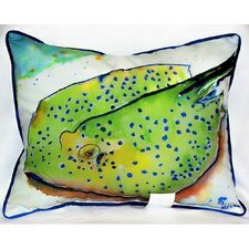 <strong>Betsy Drake Interiors</strong> Coastal Stingray Indoor / Outdoor Pillow