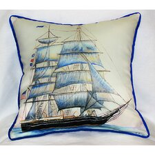 Coastal Whaling Ship Indoor / Outdoor Pillow