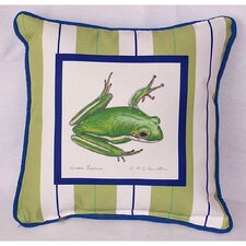 Garden Tree Frog Indoor / Outdoor Pillow