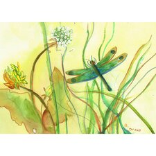 Garden Dragonfly Graphic Art on Canvas