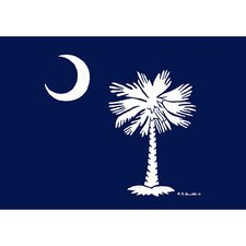 Coastal Palmetto Moon Door Mat