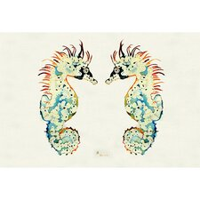 Coastal  Sea Horses Door Mat