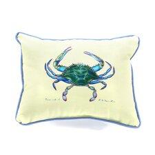 Coastal Female Crab Indoor / Outdoor Pillow