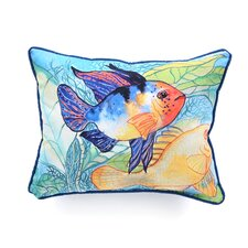 Coastal Two Fish Indoor / Outdoor Pillow