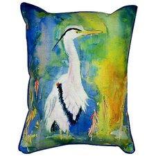 <strong>Betsy Drake Interiors</strong> Coastal Heron Indoor / Outdoor Pillow