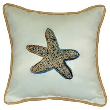 <strong>Betsy Drake Interiors</strong> Coastal Starfish Indoor / Outdoor Pillow