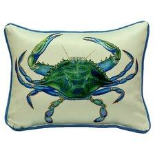 <strong>Betsy Drake Interiors</strong> Coastal Male Crab Indoor / Outdoor Pillow