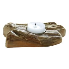 Single Flat Wood Tealight Candleholder