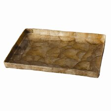 Capiz Rectangular Tray with Straight Edge