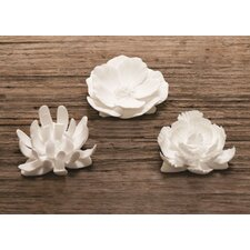 Fine Bone China Loose Flowers (Set of 3)