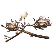 2-Nest with Fine Bone China Bird & Egg Tealight Centerpiece