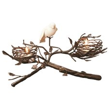 2-Nest with Fine Bone China Bird & Egg Tealight Centerpiece