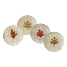 Capiz Fall Leaves Plate (Set of 4)
