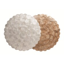 Capiz Scalloped Plain Charger (Set of 4)