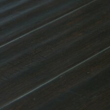 "Hand-scraped Distressed 4"" Engineered Strand Bamboo Flooring in Ebony"