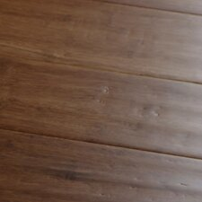 "<strong>Islander Flooring</strong> Hand-scraped 4"" Engineered Strand Bamboo Flooring in Carbonized"