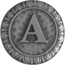 """Jewel Initial Letter A 1.375"""" Round Knob"""