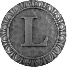 """Jewel Initial Letter L 1.375"""" Round Knob"""