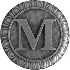 "Jewel Initial Letter M 1.375"" Round Knob"