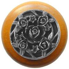 """Floral 1.5"""" Round Knob"""
