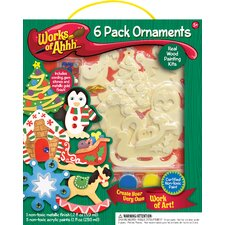 Works of Ahhh 6 Ornaments Wood Paint Kit
