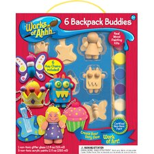 Works of Ahhh Backpack Buddies Wood Paint Kit