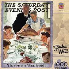 <strong>MasterPieces</strong> Norman Rockwell Freedom from Want 1000 Piece Jigsaw Puzzle