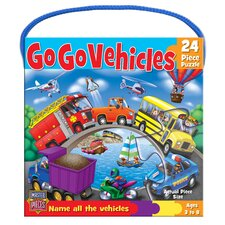 Go Go Vehicles 24 Piece Jigsaw Puzzle