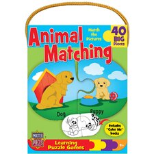<strong>MasterPieces</strong> Animal Matching Game 40 Piece Jigsaw Puzzle
