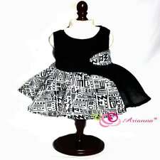 "Tribal Geometric Panel Party Dress for 18"" American Girl Doll"