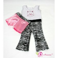 "Wildside 3 Piece Pajamas for 18"" American Girl Doll"