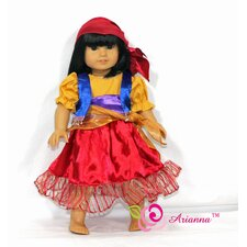 "Esmeralda Gypsy Costume for 18"" American Girl Doll"