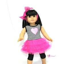 "Rockin Tulle Doll Dress for 18"" American Girl Doll"